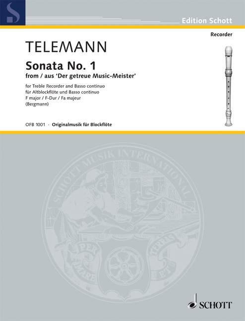 Sonate F-Dur Nr.1: für Altblockflöte und Klavier