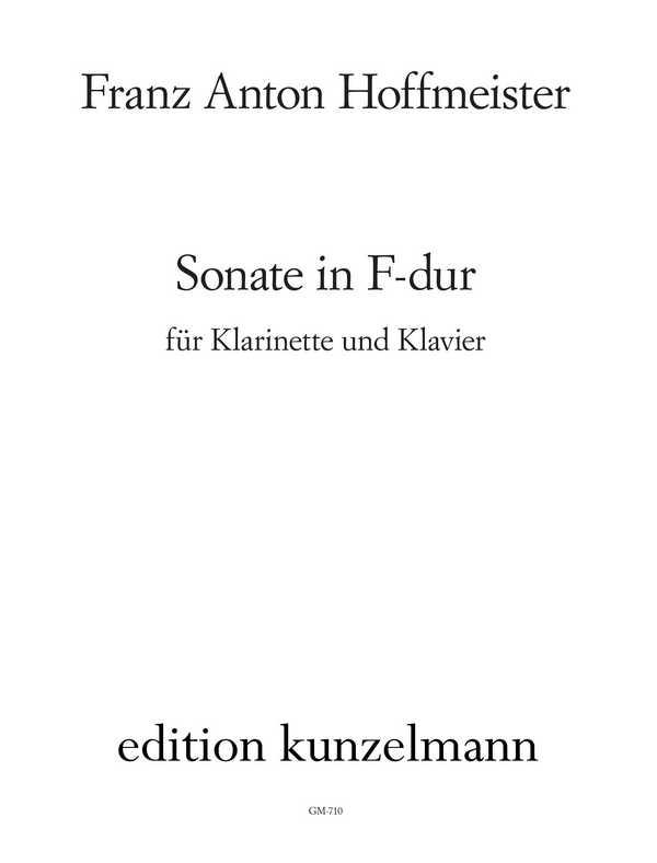 Hoffmeister, Franz Anton - Sonate F-Dur : für Klarinette