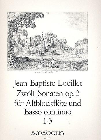 Loeillet de Gant, Jean Baptiste - 12 Sonaten op.2 Band 1 Nr.1-3 :