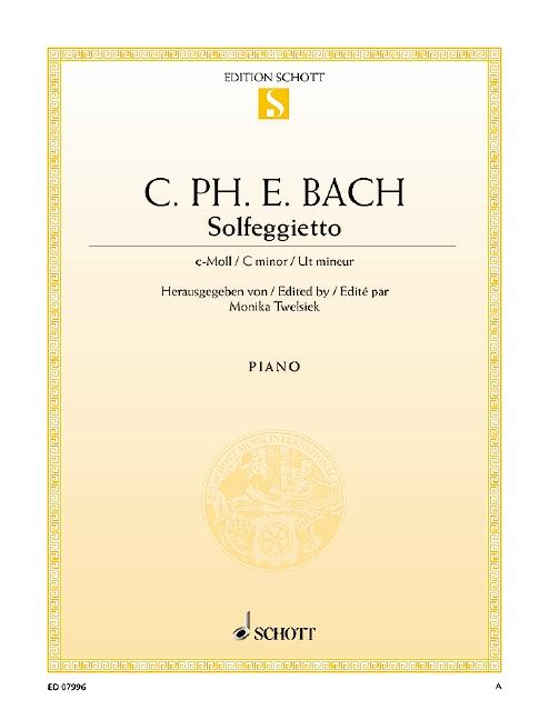 Bach, Carl Philipp Emanuel - Solfeggietto : für Klavier
