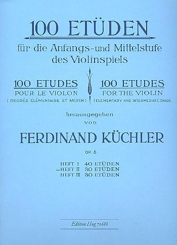 100 Etüden opus.6 Band 2: 30 Etüden für die Anfangs- und