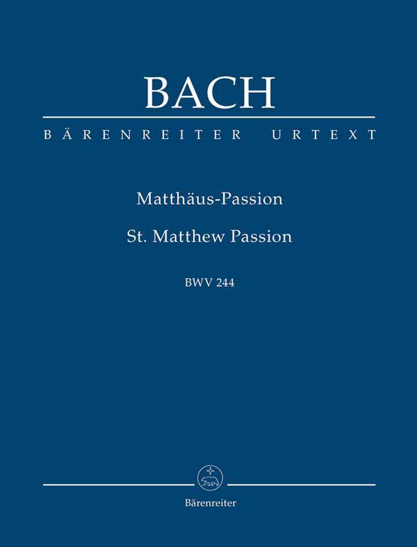 Matthäus-Passion BWV244 Studienpartitur