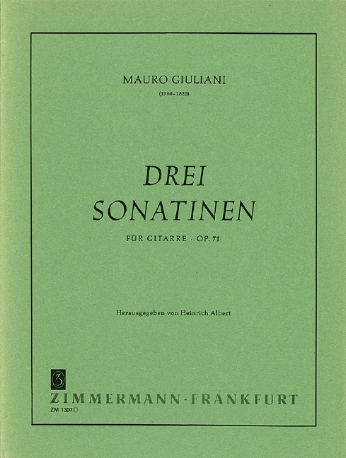 Giuliani, Mauro - 3 Sonatinen op.71 : für Gitarre