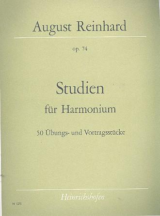 Studien opus.74 : 50 Übungs- und Vortragsstücke für Harmonium