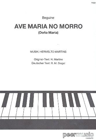 Ave Maria no morro: Einzelausgabe für Gesang und Klavier (po/dt)