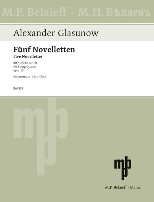Glasunow, Alexander - 5 Noveletten op.15 : für
