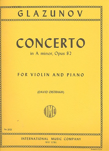 Glasunow, Alexander - Concerto in a minor op.82 : for
