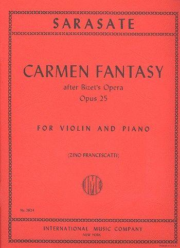 Sarasate, Pablo de - Carmen Fantasy op.25 :