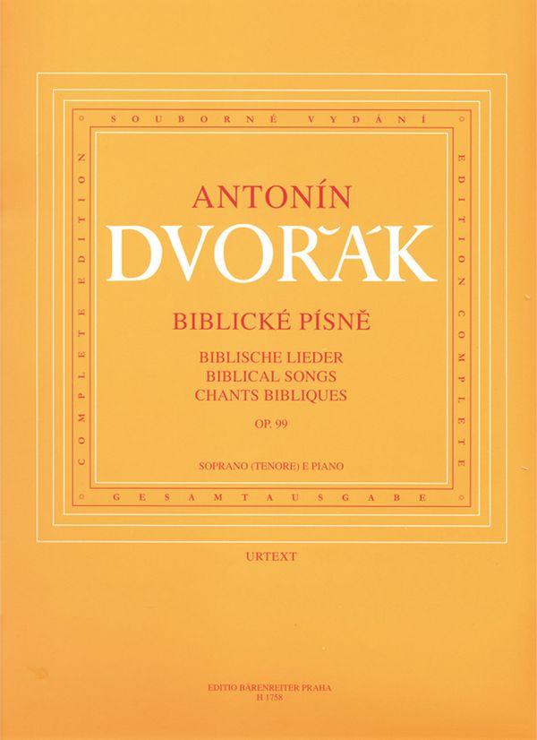 smetana - Biblische Lieder op.99 : für hohe
