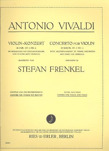Vivaldi, Antonio - Konzert B-Dur op.4,1 für
