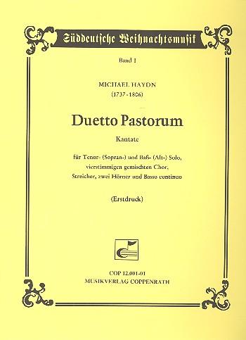 DUETTO PASTORUM: KANTATE FUER TENOR, BASS, CHOR UND ORCHESTER