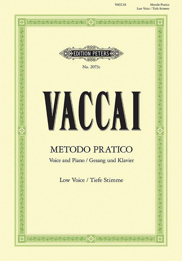 Metodo pratico di canto italiano: Gesangstudien für tiefe Stimme und