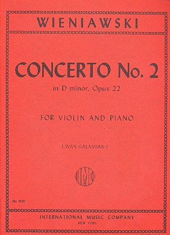 Wieniawski, Henri - Concerto d minor no.2 op.22 :