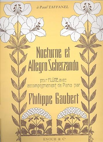 Gaubert, Philippe - Nocturne et allegro scherzando :
