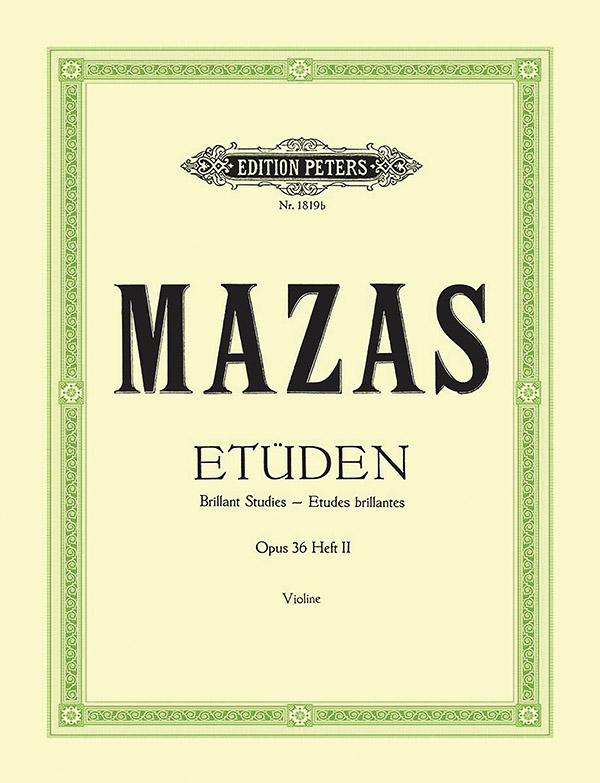 Etüden opus.36 Band 2: für Violine