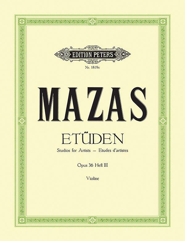 Etüden opus.36 Band 3: für Violine