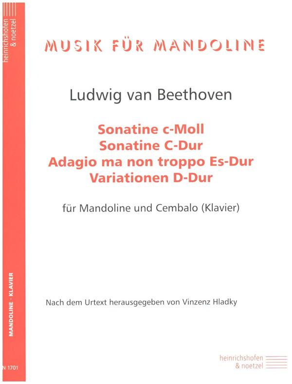 4 Stücke: für Mandoline und Cembalo