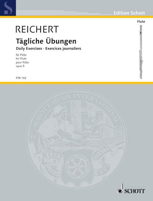 Reichert, Mathieu André - Tägliche Übungen op.5 :