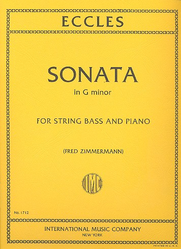 Eccles, Henry - Sonata g minor : for double bass