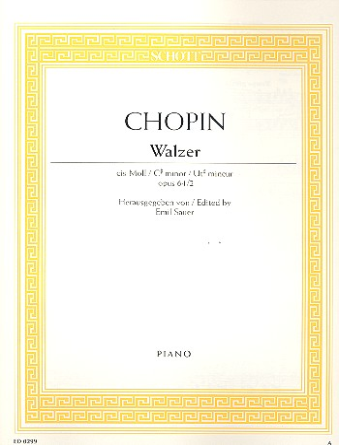 Chopin, Frédéric - Walzer cis-Moll op.64,2 :