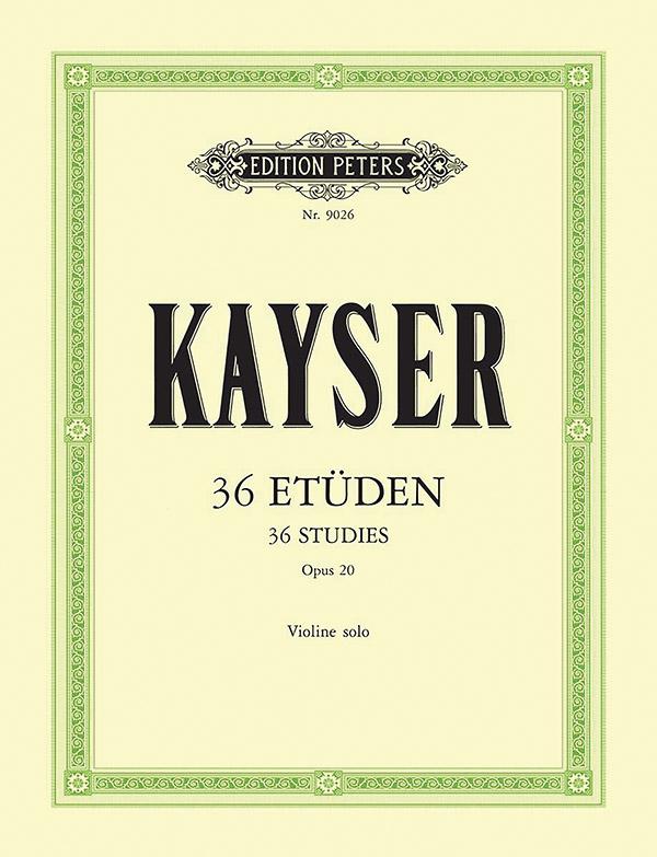 36 Etüden opus.20: für Violine