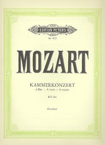 Konzert A-Dur KV414: für Klavier und Orchester