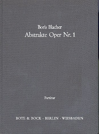 Abstrakte Oper Nr.1 Partitur