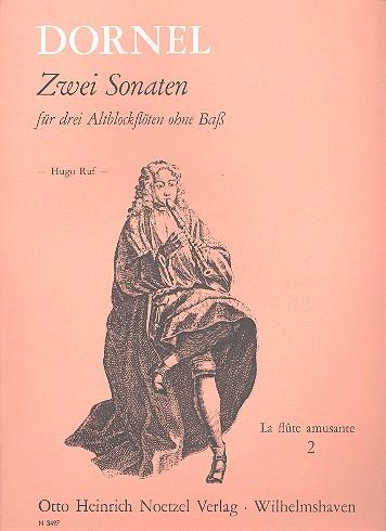 2 Sonaten: für 3 Altblockflöten Spielpartitur
