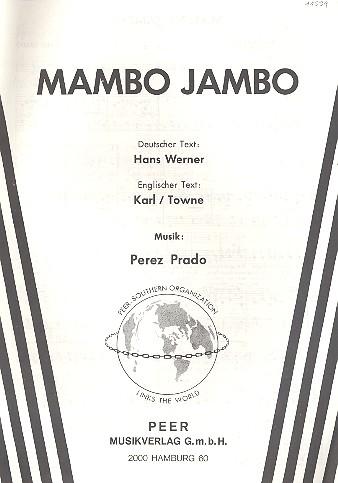 Mambo Jambo: Einzelausgabe (dt/en)