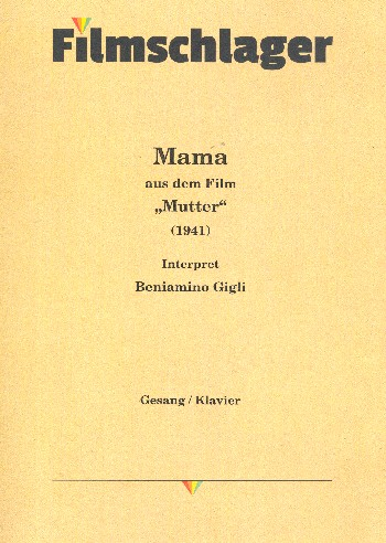 Mama: Einzelausgabe Gesang und Klavier (dt/it)
