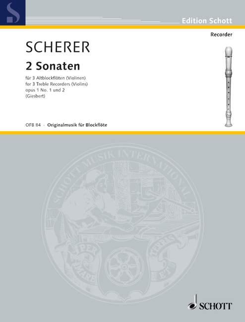 2 Sonaten op.1,1-2: für 3 Altblockflöten