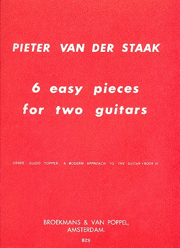 - 6 easy pieces : for 2 guitars