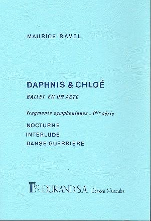 Daphnis et Chloe suite no.1: pour orchestre, partition de poche