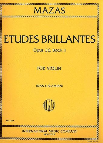 Etudes brillantes opus.36 Band 2: für Violine