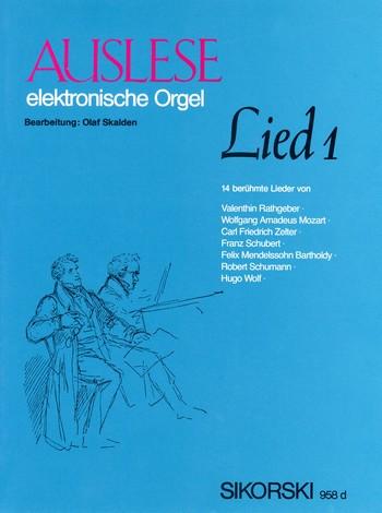 Auslese Lied Band 1: für E-Orgel