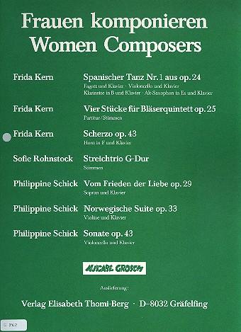 Scherzo opus.43: für Horn in F und Klavier