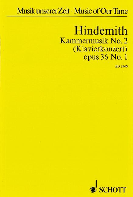 Kammermusik Nr.2 op.36,1: für Klavier und 12 Soloinstrumente