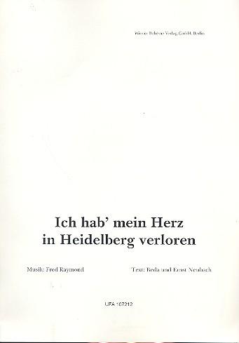 Raymond, Fred - Ich hab' mein Herz in Heidelberg