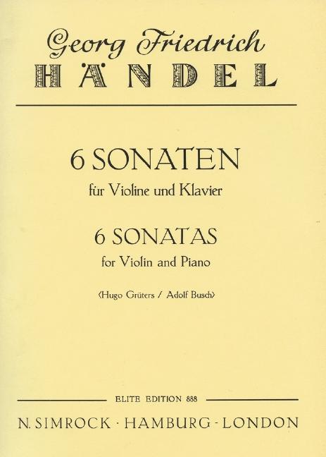 6 Sonaten: für Violine und Klavier