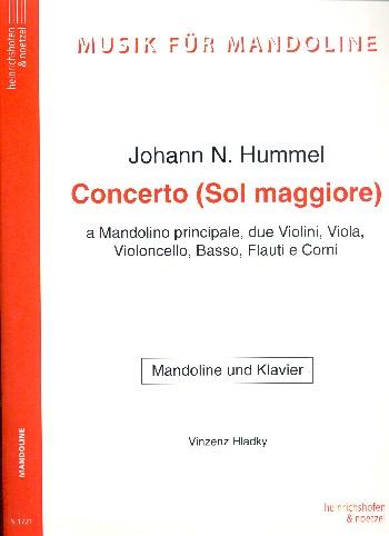 Konzert G-Dur: für Mandoline und Orchester