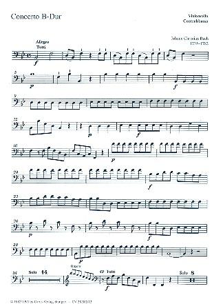 Konzert B-Dur: für Orgel, 2 Violinen und Bc