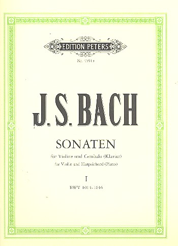 Bach, Johann Sebastian - 6 Sonaten Band 1 (Nr.1-3) :