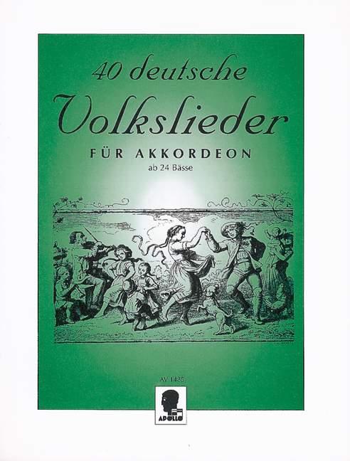 40 deutsche Volkslieder: für Akkordeon