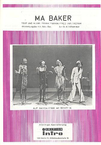 Ma Baker: Einzelausgabe Gesang und Klavier