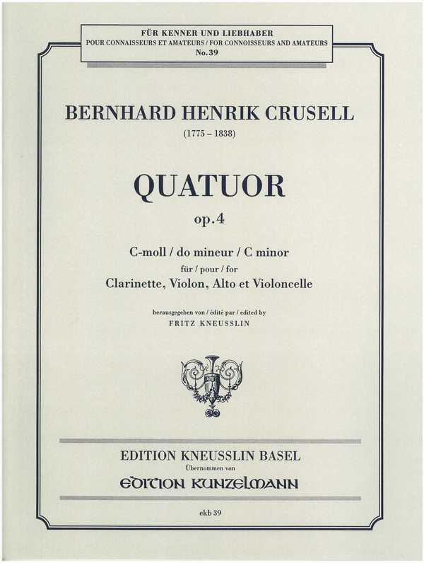 Quartett c-Moll opus.4: für Klarinette und Streichtrio