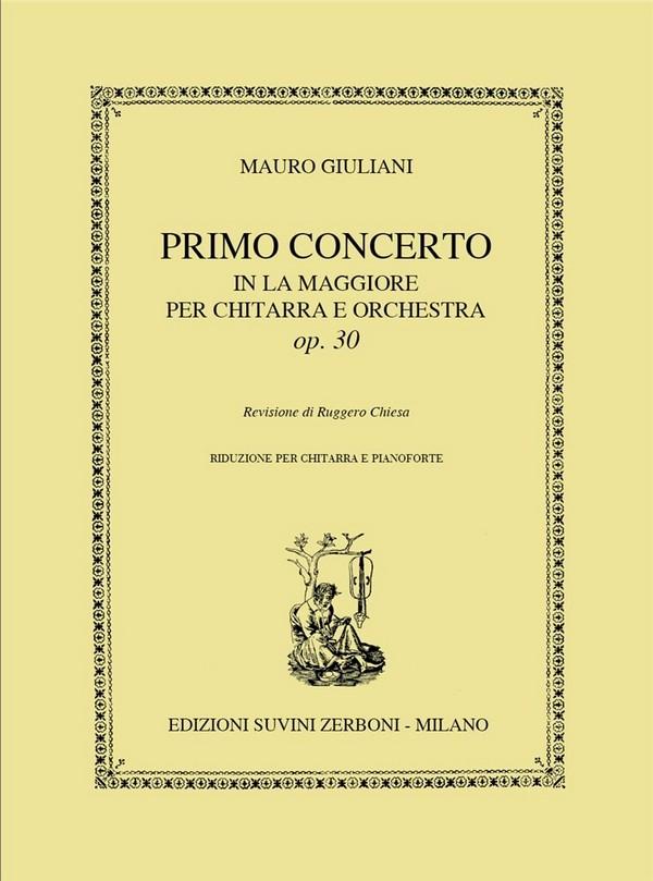 Concerto la maggiore opus.30 per chitarra e orchestra: