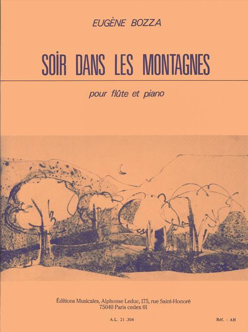 Soir dans les montagnes: pour flûte et piano