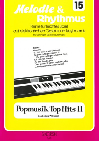 Popmusik Top Hits 2: für E-Orgel/Keyboard