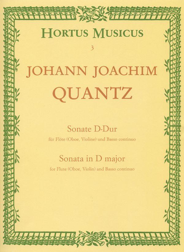 Quantz, Johann Joachim - Sonate D-Dur : für Flöte und Bc