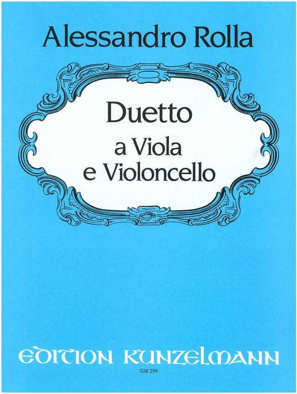Duetto für Viola und Cello